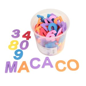 Pote alfanumerico 102 pc de EVA do kit FNDE matematica