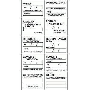 Carimbo comunicados - Mad. - 10 pc - Cx. papel