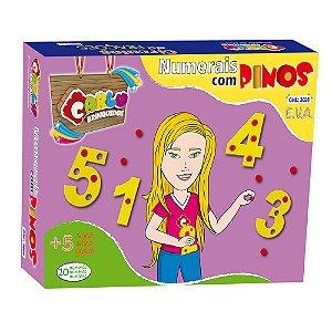 Numerais com Pinos  -  EVA - 55 pc - Cx. Papel