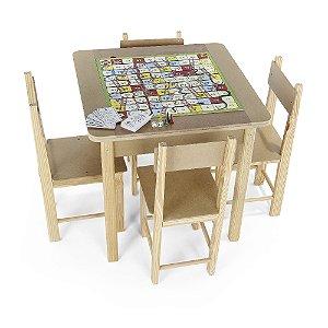 Mesa para recreacao - MDF - 5 jogos - Cx. papelao