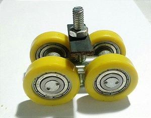 Rodízio Pantográfica Duplo 2 X 1/2 Rdzn2 4x2 Amarelo