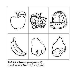Carimbos Pedagógicos Frutas 3 5x4 5cm Conjunto 2
