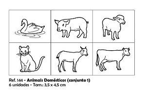 Carimbos Pedagógicos Animais Domésticos 3 5x4 5cm Conjunto 1