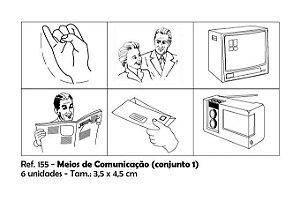 Carimbos Pedagógicos Meios De Comunicação 3 5x4 5cm Conjunto 1