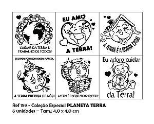 Carimbos Pedagógicos Coleção Especial Planeta Terra 4 0x4 0cm