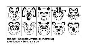 Carimbos Pedagógicos Animais Diversos 3 0x3 0cm Conjunto 2