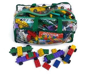 Mochila Criativa Composta De 400 Peças Tipo Lego