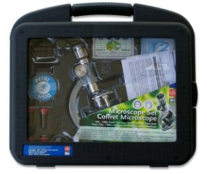 Microscópio 1200X Com estojo maleta Com pleto; aumento de 100 a 1200X Com zoom e acessórios