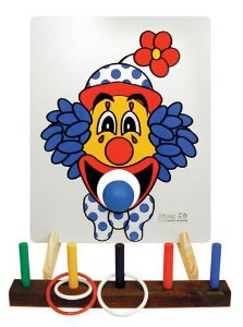 Brinquedo Educativo Jogo De Argolas E Boca De Palhaço - JOTTPLAY