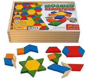 Mosaico Geométrico 100 peças cx de madeira