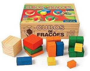 Cubos de Frações 93 peças cx de madeira