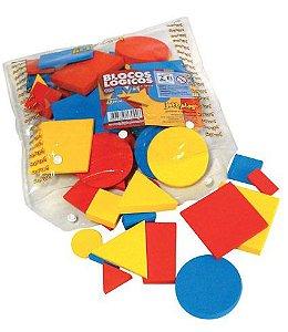 Brinquedo Educativo Blocos Lógicos 48 Peças Em E.V.A Base 7cm - JOTTPLAY