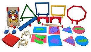 Brinquedo Educativo Linha Movimento Nº2 Atividade Corporal 64 Peças - JOTTPLAY