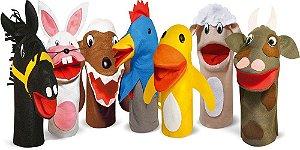 Fantoches De Animais Domésticos Com 7 Personagens Em Feltro - JOTTPLAY