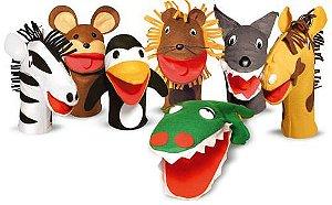 Fantoches De Animais Selvagens Com 7 Personagens Em Feltro