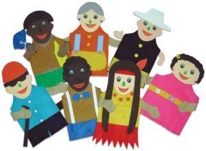 Fantoches Inclusão Social Com 7 Personagens Em Feltro