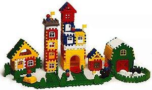 Brinquedo Educativo Kit Blocos Multiformas Mochila 136 Peças Em Plastico - JOTTPLAY