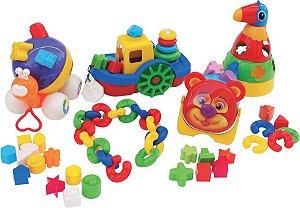 Kit Baby Didáticos composto de 66 peças em plástico
