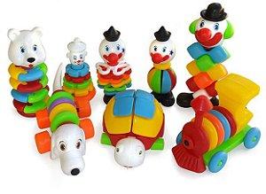 Brinquedo Educativo Kit Encaixe E Desencaixe 124 Peças Em Plastico - JOTTPLAY