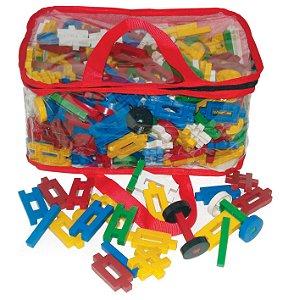 Ligue Mania composto de 400 peças em plástico na mochila.