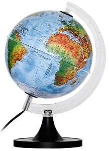 Globo Mapa Mundi Politico Com Led 30 Cm