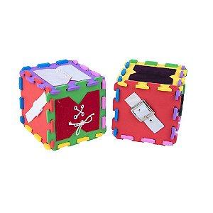 Cubo de atividades em EVA com 12 pecas - Emb. plast.