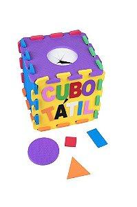 Brinquedo Educativo Cubo Tatil Em E.V.A  Com 22 Peças - CARLU
