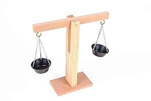 Brinquedo Educativo Balança de madeira 23x20cm - CARLU