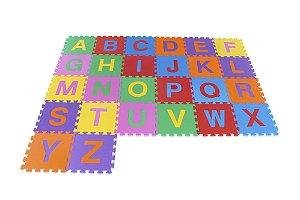 Tapete Educativo Infantil Alfabeto Em E.V.A  Com 26 Peças - CARLU