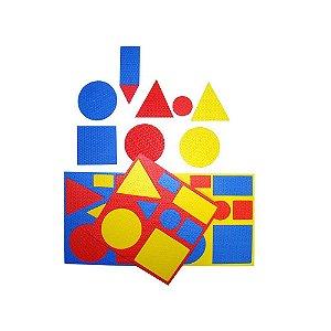 Brinquedo Educativo Blocos Logicos E.V.A  Com 48 Peças - CARLU