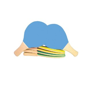 Raquetes tênis de mesa em MDF - 1 par - Emb. plast.
