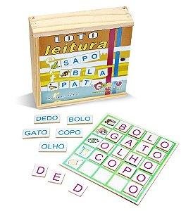 Brinquedo Educativo Loto Leitura Mdf 130 Peças - CARLU