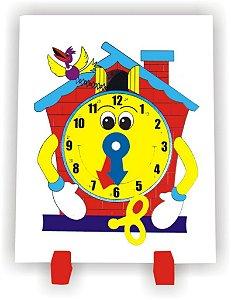 Brinquedo Educativo Relogio Cuco Em Mdf - CARLU