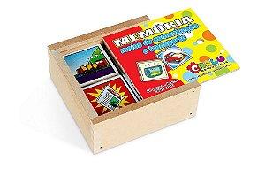 Brinquedo Educativo Memória Meios De Comunidades E Transportes 40 peças - CARLU