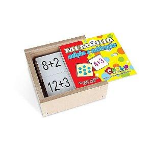 Brinquedo Educativo Memória Adicao E Subtracao Mdf Com 40 Peças - CARLU