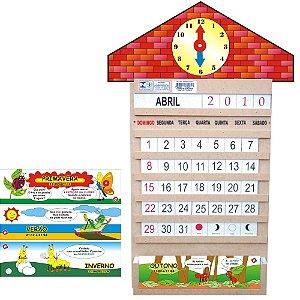 Calendario Relogio Em Mdf 58 Peças