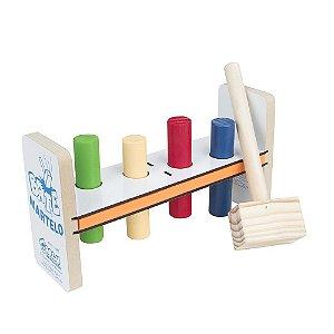 Bate martelo - Madeira com 5 pecas - PVC enc.