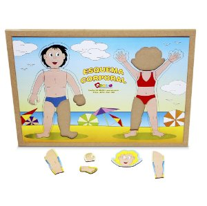 Brinquedo Educativo Esquema Corporal Em Mdf 20 Peças - CARLU