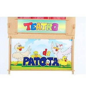 Teatro da patota em MDF - 27 pc - Cx. papelao