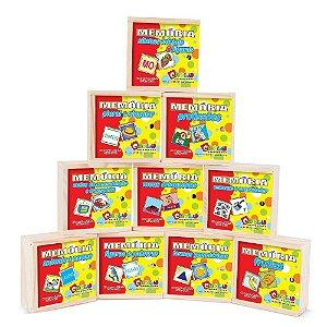 Memória Educativa Kit Em Mdf 10 Jogos