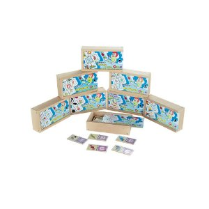 Domino Kit Alfabetizacao Mdf 8 Jogos Sortidos