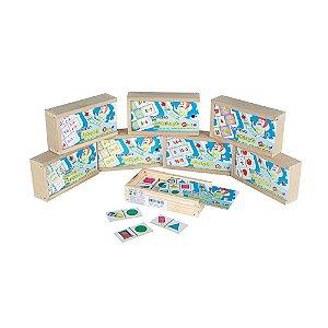 Domino Kit Matematica Em Mdf 8 Jogos Sortidos