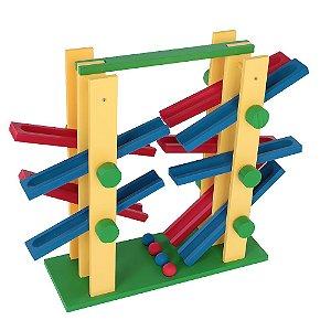 Brinquedo Educativo Equilibrando 2x2 Mdf 4 Bolinhas