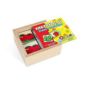 Memória Educativa Frutas E Hortalicas MDF 40 Peças