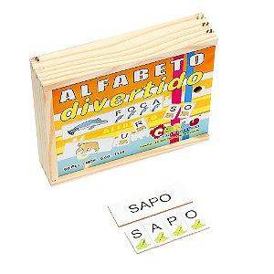 Jogo Educativo Alfabeto Divertido Em Mdf 60 Peças - CARLU