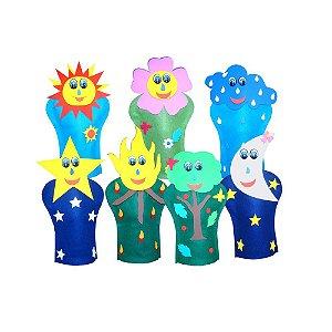 Fantoches Natureza Feltro 7 Personagens