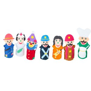 Fantoches Profissoes Feltro 7 Personagens