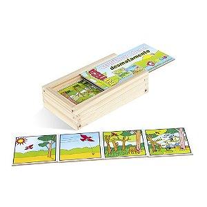 Brinquedo Educativo Sequençia Lógica Desmatamento Em Mdf Com 16 Peças - CARLU