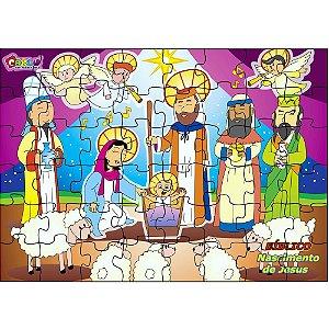 Brinquedo Educativo Quebra Cabeça Biblico Nascimento De Jesus Em Mdf 48 Peças - CARLU