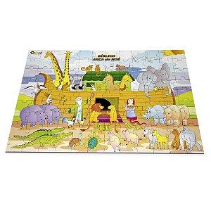 Quebra Cabeça Biblico Arca De Noe Em Mdf 108 Peças